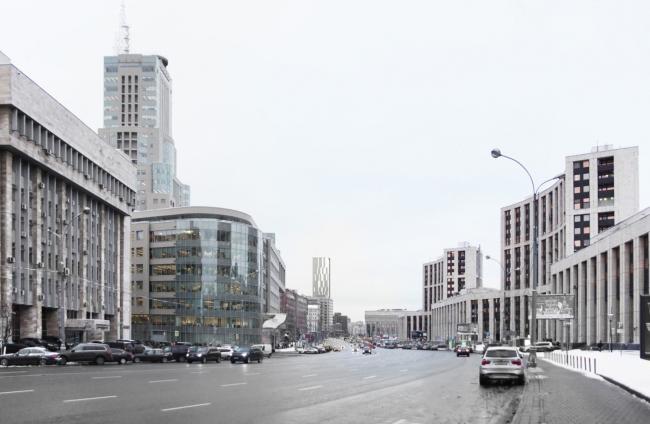 Многофункциональный комплекс на Мясницкой улице. Вид 7 с улицы Маши Порываевой