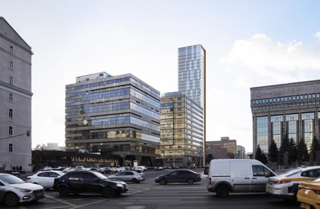 Многофункциональный комплекс на Мясницкой улице. Вид 8 с Садового кольца