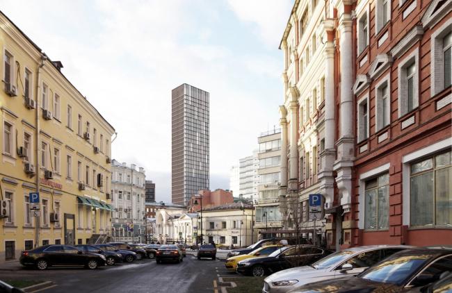Многофункциональный комплекс на Мясницкой улице. Вид 10 с Мясницкого проезда