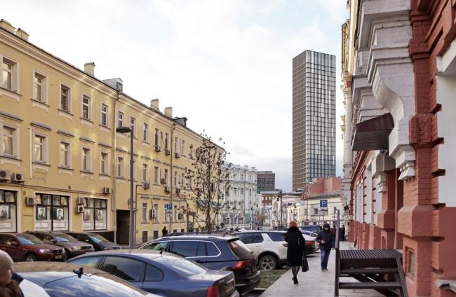 Многофункциональный комплекс на Мясницкой улице. Вид 11 с Мясницкого проезда