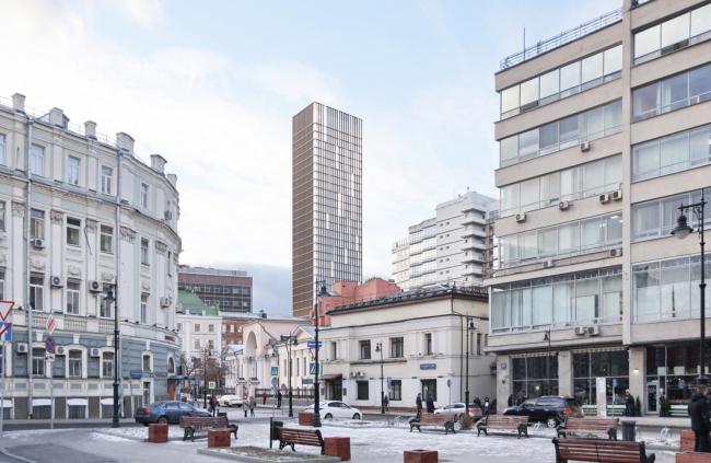 Многофункциональный комплекс на Мясницкой улице. Вид 12 с Мясницкого проезда
