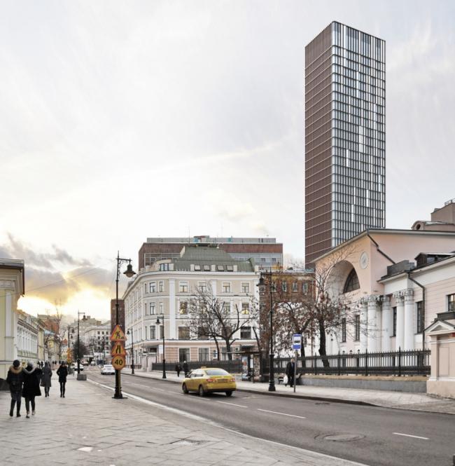 Многофункциональный комплекс на Мясницкой улице. Вид 13 с Мясницкой улицы