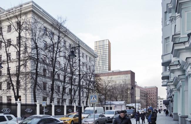 Многофункциональный комплекс на Мясницкой улице. Вид 16 с Мясницкой улицы