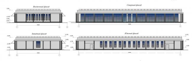 Проект реконструкции СКК «Петербургский». Павильон 1