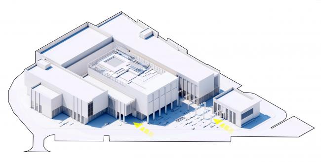 Торговый комплекс в ЖК «Испанские кварталы». Макетное изображение торгового центра