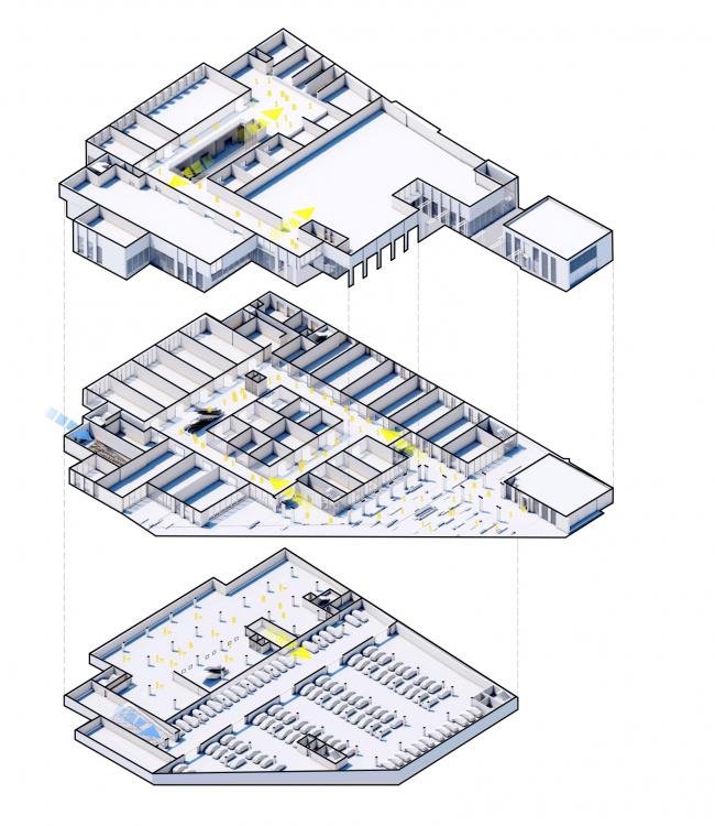 Торговый комплекс в ЖК «Испанские кварталы». Взрыв-схема этажей