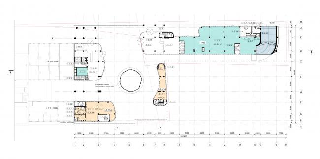 """Офисный центр """"Beetle"""". 3 этап. План 1 этажа на отм. 0,000"""