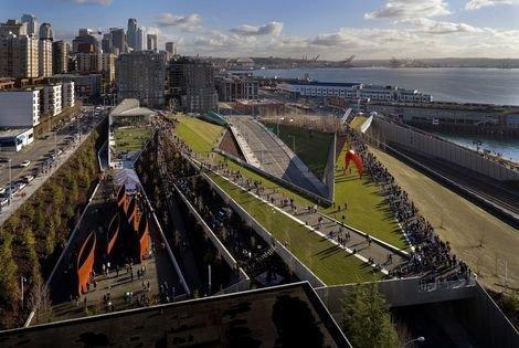 Олимпийский парк скульптур в Сиэтле бюро Weiss/Manfredi Architects