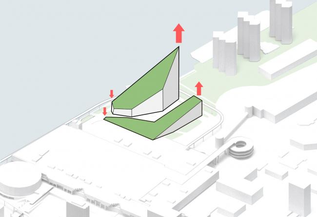 Комплекс Garden Rift Tower. Схема морфологии проекта