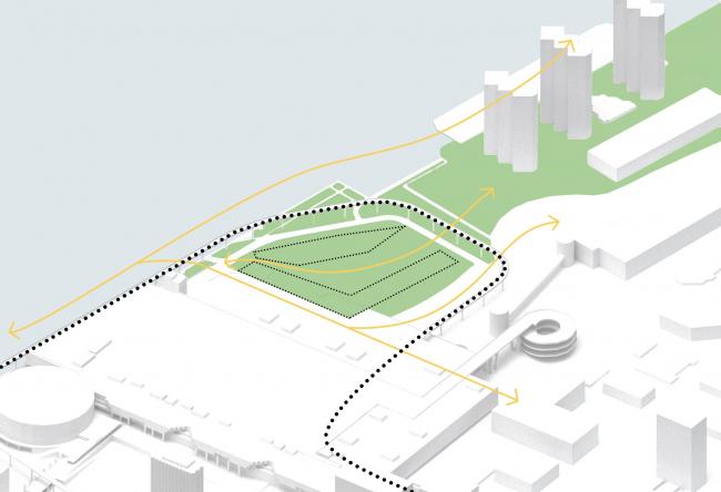 Комплекс Garden Rift Tower. Схема плана концепции