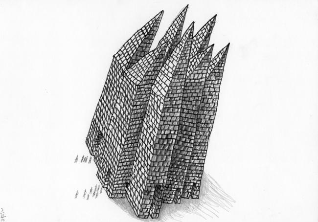 Эскиз к дизайну обложки книги «Гарри Поттер и философский камень»
