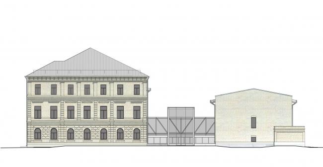 Комплекс офисных зданий на Верхней Красносельской улице. Восточный фасад