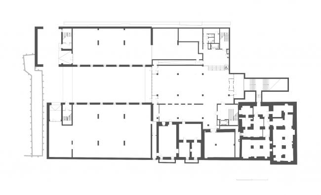 Комплекс офисных зданий на Верхней Красносельской улице. План цокольного этажа