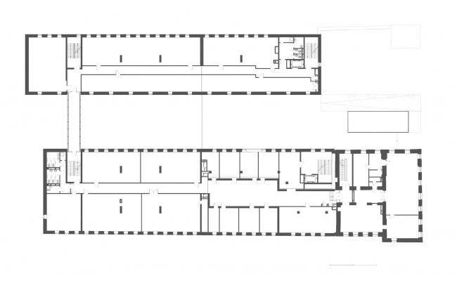 Комплекс офисных зданий на Верхней Красносельской улице. План 2 этажа