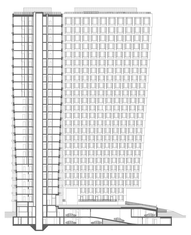 Разрез. Апарт-комплекс «Новоданиловская 8»