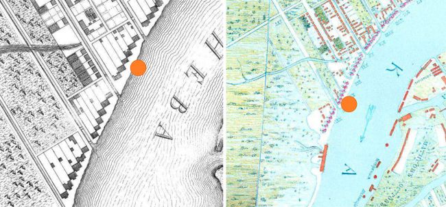 Жилой комплекс «Красин». Планы Санкт Петербурга: Зигхейда 1738 г, Трускотта 1753 г. © Студия 44