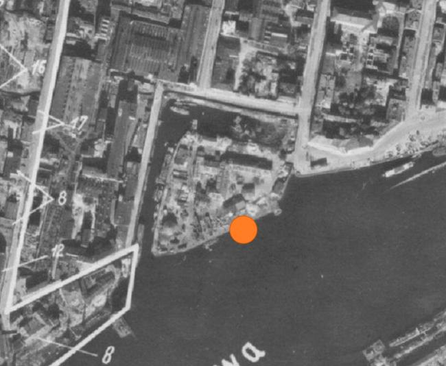 Жилой комплекс «Красин». Масляный канал. немецкая аэрофотосъемка 1941-1942 гг. © Студия 44