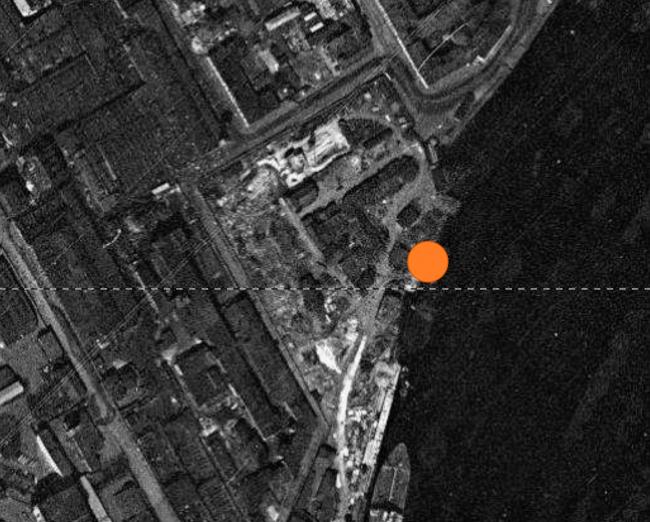 Жилой комплекс «Красин». Фотография Ленинграда снятая американским спутником 17.05.1966 г. © Студия 44