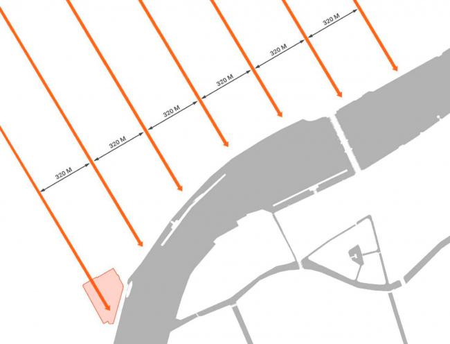 Жилой комплекс «Красин». проектный план Васильевского острова Доменико Трезини 1717 г. © Студия 44