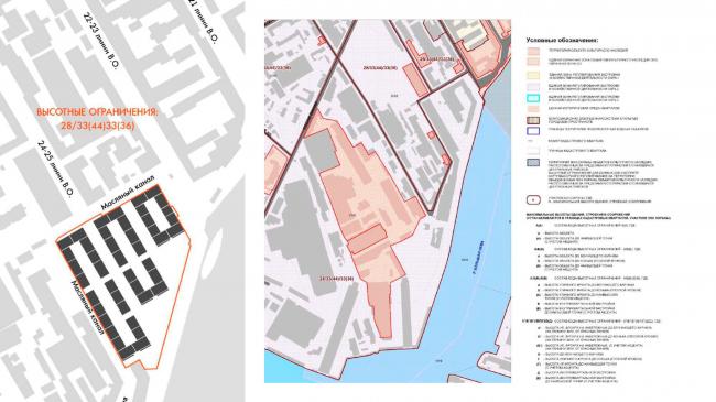 Жилой комплекс «Красин». Карта высотного регулирования