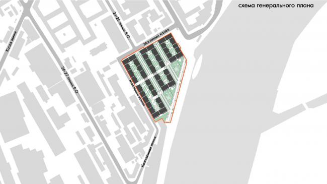 Жилой комплекс «Красин». Схема генерального плана