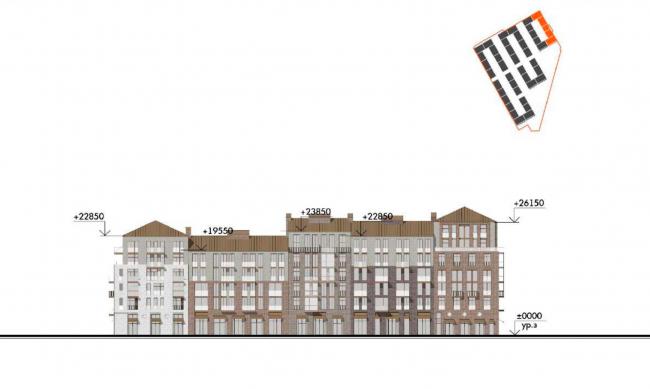 Жилой комплекс «Красин». Фасад по 23 линии В.О