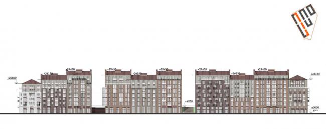 Жилой комплекс «Красин». Фасад по 25 линии В.О