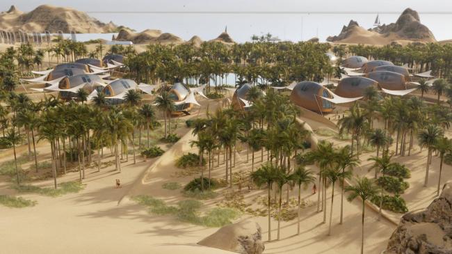 Автономные дома, разработанные для размещения в пустыне