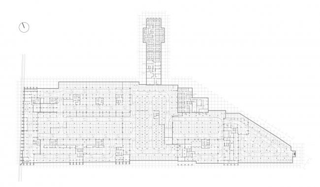 Жилой комплекс «Ligovsky City. Второй квартал». План паркинга 2 этаж