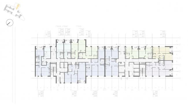 Жилой комплекс «Ligovsky City. Второй квартал». План 1 этажа корпус 2