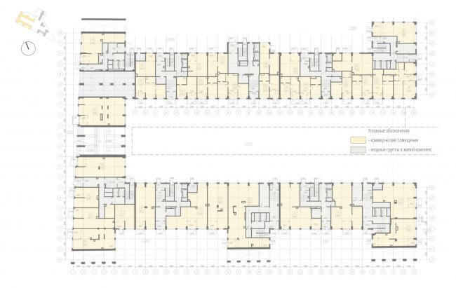 Жилой комплекс «Ligovsky City. Второй квартал». план 1 этажа корпус 1