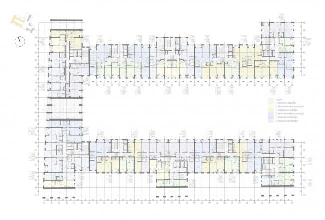 Жилой комплекс «Ligovsky City. Второй квартал». План 2 этажа корпус 1