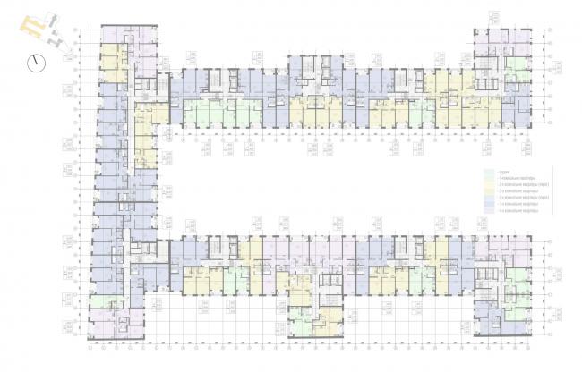 Жилой комплекс «Ligovsky City. Второй квартал». План 3-8 этажа корпус 1