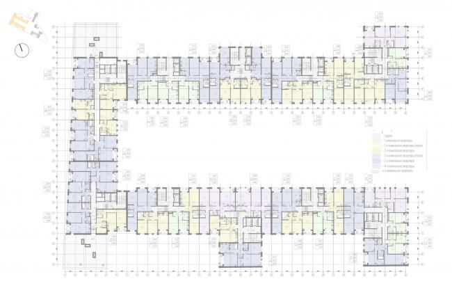 Жилой комплекс «Ligovsky City. Второй квартал». План 9 этажа корпус 1