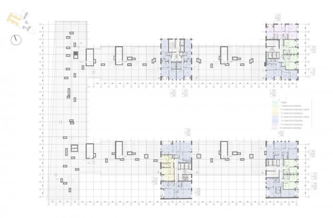 Жилой комплекс «Ligovsky City. Второй квартал». План 10 этажа корпус 1