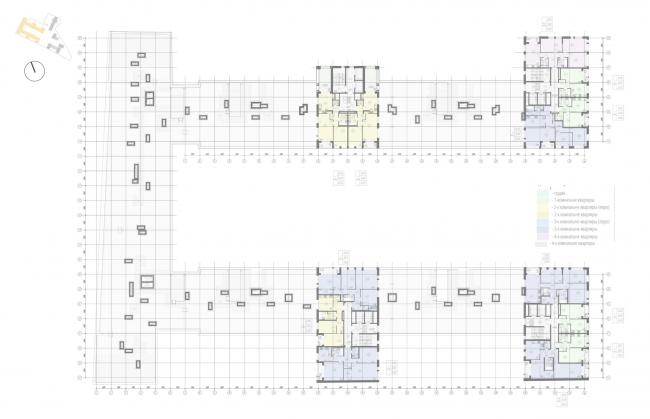 Жилой комплекс «Ligovsky City. Второй квартал» План 11 этажа корпус 1