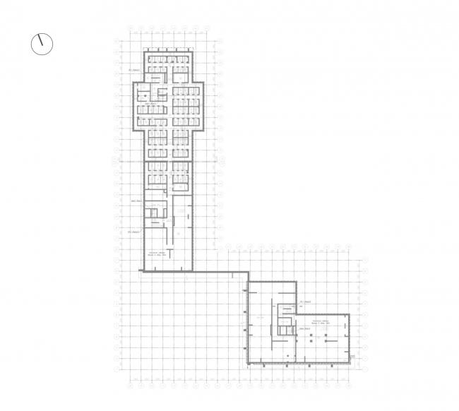 Жилой комплекс «Ligovsky City. Второй квартал». План паркинга 1 этаж