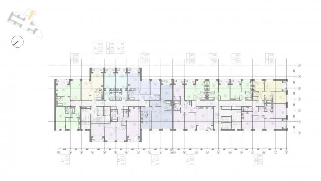 Жилой комплекс «Ligovsky City. Второй квартал». План 2 этажа корпус 2
