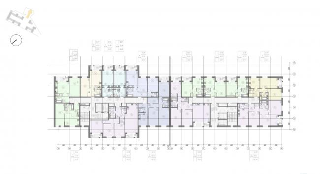 Жилой комплекс «Ligovsky City. Второй квартал». План 3 этажа корпус 2