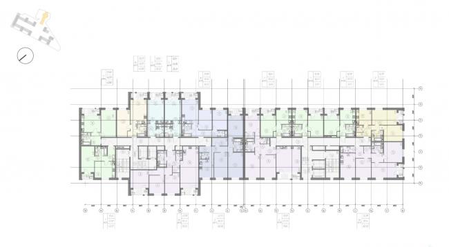 Жилой комплекс «Ligovsky City. Второй квартал». план 4-8 этажа корпус 2