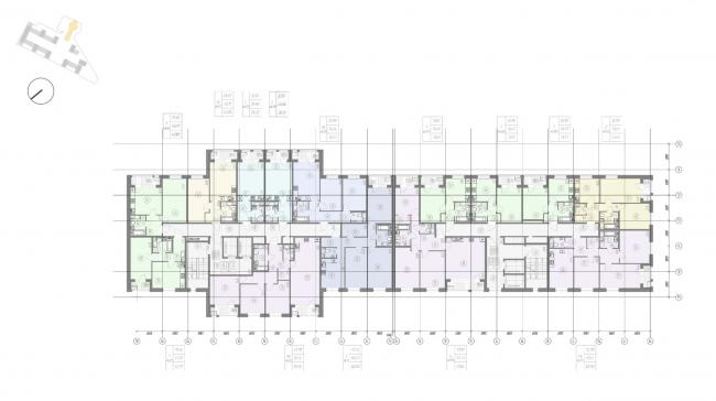 Жилой комплекс «Ligovsky City. Второй квартал». План 9-11 этажа корпус 2