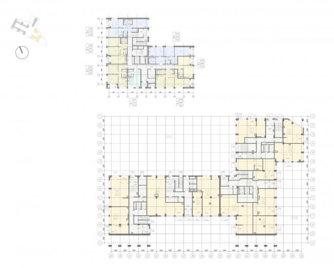 Жилой комплекс «Ligovsky City. Второй квартал». план 1 этажа корпус 3,4
