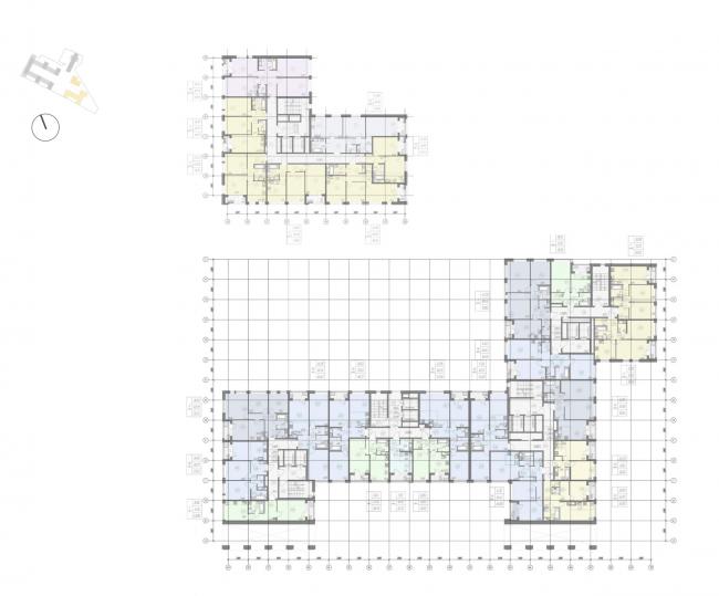 Жилой комплекс «Ligovsky City. Второй квартал». План 2 этажа корпус 3,4