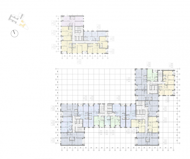 Жилой комплекс «Ligovsky City. Второй квартал». План 3-8 этажа корпус 3,4