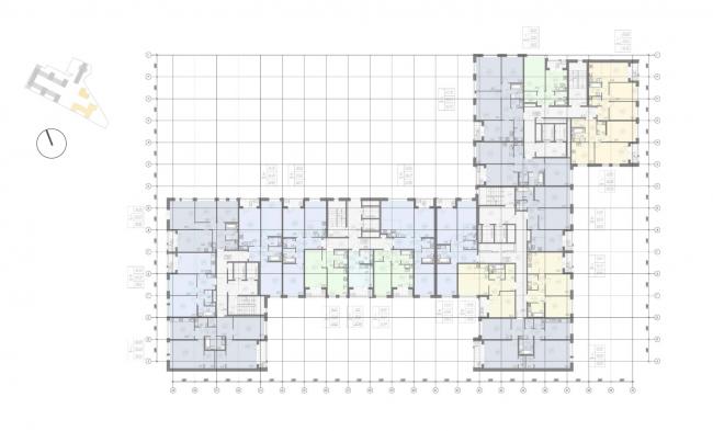 Жилой комплекс «Ligovsky City. Второй квартал». План 9-11 этажа корпус 3,4
