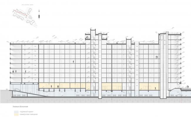 Жилой комплекс «Ligovsky City. Второй квартал». Разрез 5-5 корпус 1