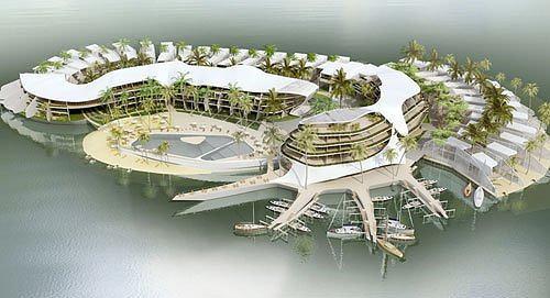 Концепция застройки острова. Архипелаг «Мир».