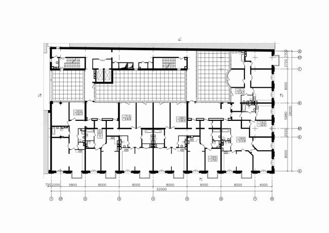 План на уровне квартир (3 этаж)