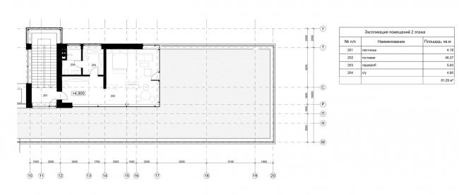 Проект загородного дома Buena Vista. План 2 этажа