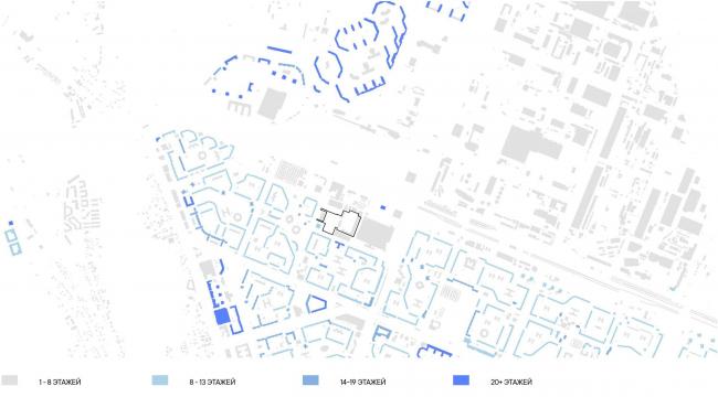 Многоквартирный дом на Шостаковича. Карта высотности